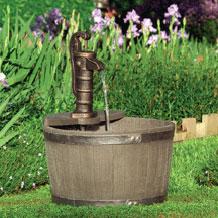 Fuentes de agua para jardines recipiente grande for Bomba para fuente de jardin