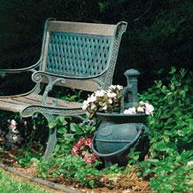 Fuentes de agua para jardines caldera con jardinera for Bombas para fuentes de jardin